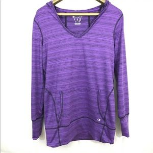 Champion Hoodie Shirt Long Sleeve Pullover Top